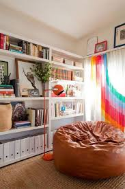 furniture leather bean bag chair with rainbow window