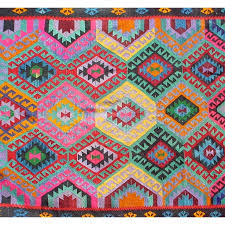 Colorful Aztec Rug Ethnic Rug Sally White Designs