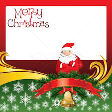 vector card with bells and santa claus vector