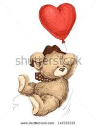teddy bears in balloons teddy holding heart balloons whimsical 2