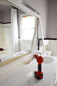 How To Frame Bathroom Mirror How To Frame A Bathroom Mirror Diy Mirror Moldings And Bathroom