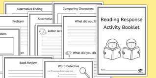 reading book response activity booklet reading book activity