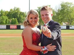 corsage and boutonniere for homecoming and s senior prom with baseball corsage and