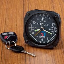 cessna logo altimeter desk clock from sporty u0027s pilot shop