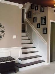 i love these stairs i think the dark wood adds beautiful