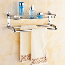 Hanging Bathroom Shelves Free Shipping 304 Stainless Steel Towel Shelf Towel Bar Towel Rack