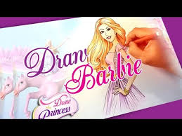 draw barbie princess drawing tutorial step step