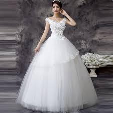 wedding dresses for women stylish white v neck solid lace floor length wedding dress for
