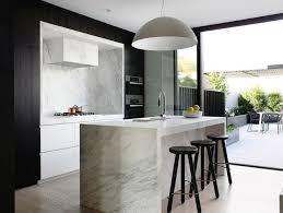 cuisine marbre blanc design interieur cuisine moderne îlot central moderne marbre blanc