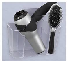 curling iron wall mount amazon com creative bath blow away hair care storage home u0026 kitchen