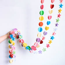 1pc balloon hanging line paper garland ornaments curtain wall pop