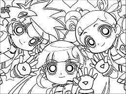 Powerpuff Girls Z Coloring Pages Funycoloring Power Puff Coloring Page