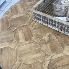 henrietta u0027 reclaimed wood parquet round coffee table style my home