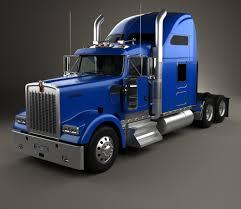 a model kenworth kenworth w900l tractor truck 2005 blueprint hum3d