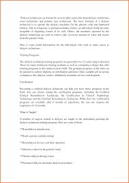 Technical Resume Objective 5 Dialysis Technician Resume Objective Executive Resume Template