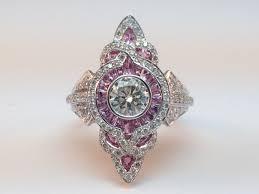 engagement ring fleur de lis art deco diamond engagement ring in