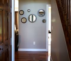 Mirror Sets For Walls Hand Crafted Round Wall Mirrors Solid Walnut Set Of 6 Porthole