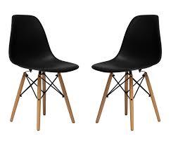 amazon com set of 2 chelsea eames dsw wood legs molded