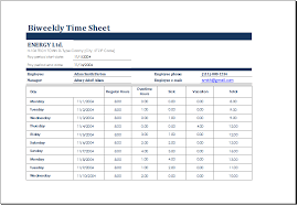 4 employee timesheet templates for excel document hub