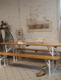 Beer Garden Tables by Painted Cottage Chic Shabby Farmhouse Beer Garden Table And Benc