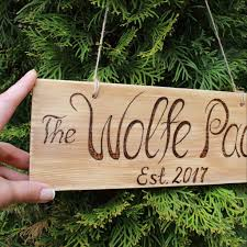 home decor address custom wood burned signs tree slice ornaments and gift tags ven