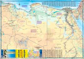 Map North Africa by Africa North Travel Map Itm Maps Company