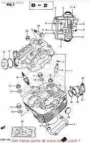 suzuki lt230e 1987 h cylinder head schematic partsfiche