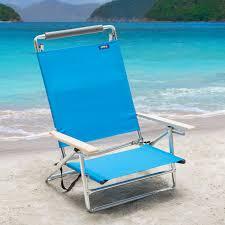 Fully Reclining Beach Chair Copa 5 Position Lay Flat Aluminum Beach Chair Azure Hayneedle