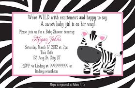 baby shower invitations zebra print baby shower invitations party