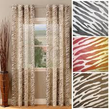 Zebra Curtain Panels Sheer Animal Print Curtains Kenya Safari Brown Animal Print Semi