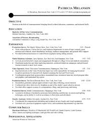 Example Of Chronological Resume by Communications Entry Level Resume Samples Vault Com