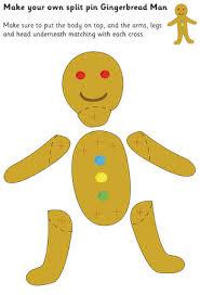 gingerbread man split pin character book activites pinterest
