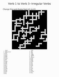 random book and movie reviews verb 1 to verb 3 crossword