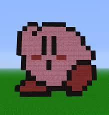 minecraft kirby pixel art d by redenergyyt on deviantart