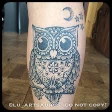 tribal owl tattoo 42 calf tattoos for girls