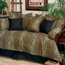 Daybed Comforters Leopard Print Daybed Cover Set 07142100088km Kimlor Mills Inc
