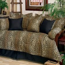 Daybed Bedding Sets Leopard Print Daybed Cover Set 07142100088km Kimlor Mills Inc