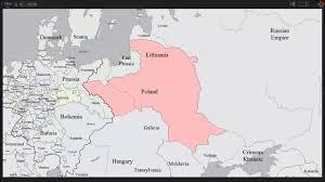 Map Poland History Map Of Poland U0026 Lithuania Youtube