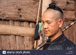 southern man hair style a young basha miao man gun men with traditional hairstyle and