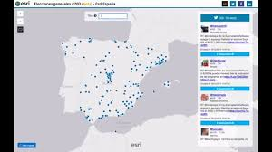 Espana Map Real Time Twitter Map 20d Esri España U0026 Geo Developers Youtube