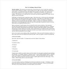 8 research paper outline templates u2013 free sample example format