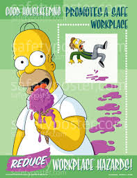 house keeping housekeeping safety poster simpsons