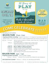 how 2 events 50 years fayetteville parks department plans 50th anniversary celebration