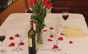 Valentine S Day Tablecloth by Valentine U0027s Day Romantic Dinner For Two Ribeye Steaks With