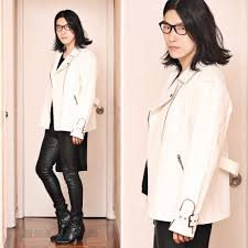 winter biker jacket philip mak asos white biker jacket helmut lang leather leggings