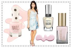 What Color Goes With Light Blue by What Polish Colors To Wear With Your Prom Dress Teen Vogue
