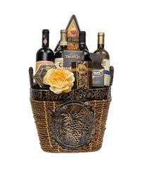 gift baskets with wine fantastic four wine gift basket by pompei baskets