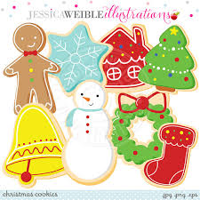 christmas cookies cute digital clipart commercial use ok