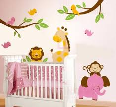 Nursery Wall Mural Decals Nursery Wall Mural Decals Baby Nursery Decor Jungles Wall