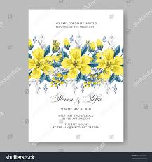 Wedding Invitation Card With Photo Wedding Invitation Card Abstract Yellow Floral Stock Vector